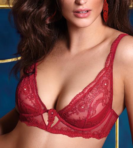 Lise Charmel - sublime assur rouge - wired triangle bra